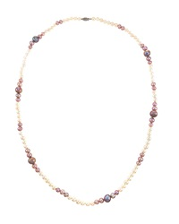 Belpearl Long Mixed White And Pink Freshwater Pearl Necklace Women's