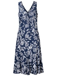 East Mahika Floral Print Sleeveless Dress Navy