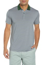 Bobby Jones Rule 83 Stripe Tech Jersey Polo Green