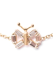 Matchstick Diamond And Yellow Gold Butterfly Bracelet