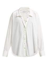 Marques Almeida Marques'almeida Ring Detail Raw Hem Cotton Shirt White