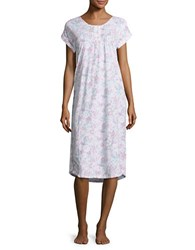 Miss Elaine Floral Button Down Nightgown Multi Floral
