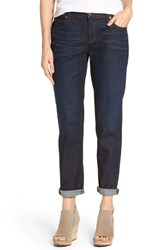 Eileen Fisher Women's Organic Cotton Boyfriend Jeans Deep Indigo
