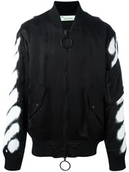 Off White Spray Bomber Jacket Black