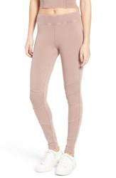 Women's Bp. Washed Stretch Cotton Moto Leggings