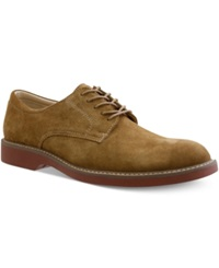 Bass Pasadena Plain Toe Lace Up Shoes Men's Shoes Taupe Suede