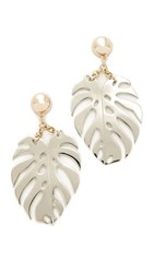 Lulu Frost Botonica Earrings Rhodium Gold