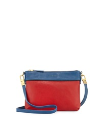 Hare Hart Togo Colorblock Pouch Crossbody Bag Flame Red Royal Blue