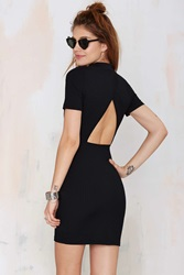 Nasty Gal Whatcha Gonna Do Ribbed Dress Black