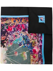 Marni Floral Embroidered Scarf Black