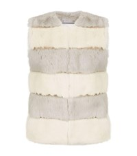 Max And Moi Two Tone Fur Gilet Multi