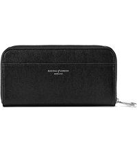 Aspinal Of London Continental Leather Zip Around Wallet Black
