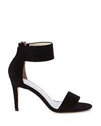 Karen Millen Ankle Cuff High Heel Sandals Black