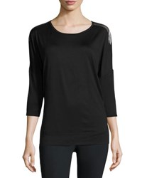 Alala Tranquility Metallic Back Performance Tunic Black