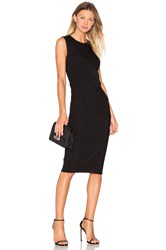 Alexander Wang Matte Jersey Drape Dress Black