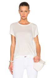Helmut Lang Cashmere Jersey Tee In Neutrals
