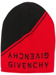 Givenchy Logo Beanie Red
