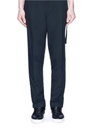 Tim Coppens 'American Dreamer' Embroidered Strap Pants Black
