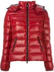 Moncler Hooded Padded Jacket Red