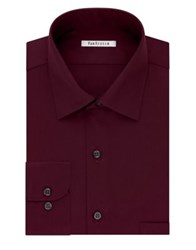 Van Heusen Regular Fit Lux Sateen Dress Shirt Oxblood