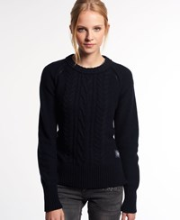 Superdry Cable Crew Jumper Navy