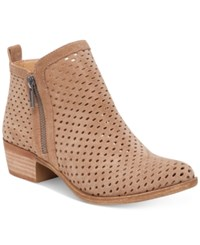 Lucky Brand Women's Perforated Basel Booties Women's Shoes Sesame