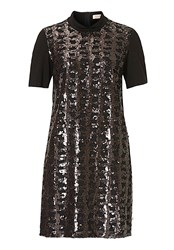 Vera Mont Embellished Jersey Dress Black