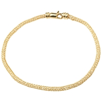 A B Davis Aurium Collection 9Ct Gold Cubic Zirconia Flexi Bracelet Yellow Gold