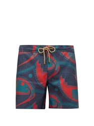 Thorsun Mata Graphic Print Swim Shorts Blue Multi