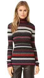 Diane Von Furstenberg Leela Sweater Royal Navy Stripe