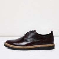 River Island Mens Burgundy Leather Formal Shoes Red
