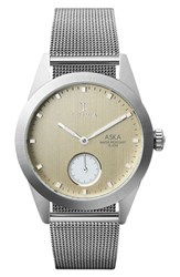 Triwa Women's Aska Super Slim Mesh Strap Watch 32Mm Silver Gold Silver