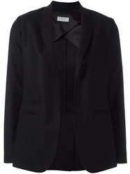 Alberto Biani Round Cut Fitted Jacket Black