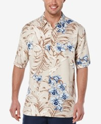 Cubavera Men's Tropical Print Short Sleeve Shirt Silver Lining
