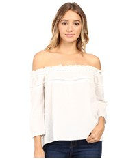 Roxy Beach Fossil Cold Shoulder Top Pristine Women's Blouse Neutral