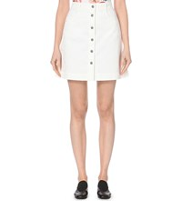 Stella Mccartney Button Up Denim Skirt White