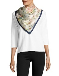 Collection 18 Floral Printed Patchwork Scarf Multi Colored