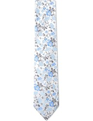 Duchamp Summer Garden Silk Tie White