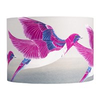 Anna Jacobs Violet Backed Starling Lamp Shade Pink