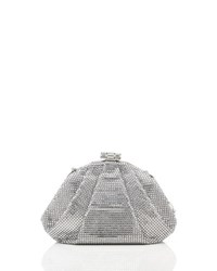 Judith Leiber Couture Enchanted Allover Beaded Pochette Silver Rhine Silver Shade