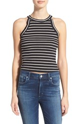 Junior Women's Bp. Stripe High Neck Racerback Cotton Tank