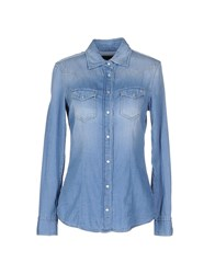 Brian Dales Denim Denim Shirts Women Blue