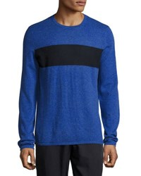 Vince Cashmere Blend Striped Sweater Blue