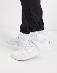 Ellesse Assist High Top Leather Trainers In White