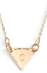 Women's Nashelle 14K Gold Fill Initial Triangle Necklace 14K Gold Fill C