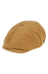 Brixton Men's 'Brood' Driving Cap Brown Toffee