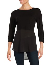 Vince Camuto Long Sleeve Tunic Rich Black