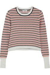 Opening Ceremony Striped Jacquard Knit Sweater Orange
