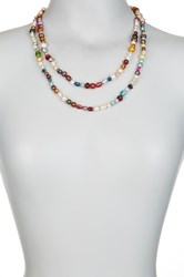6 8Mm Multicolor Freshwater Pearl Endless Necklace