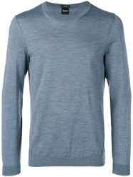 Hugo Boss Crew Neck Jumper Blue